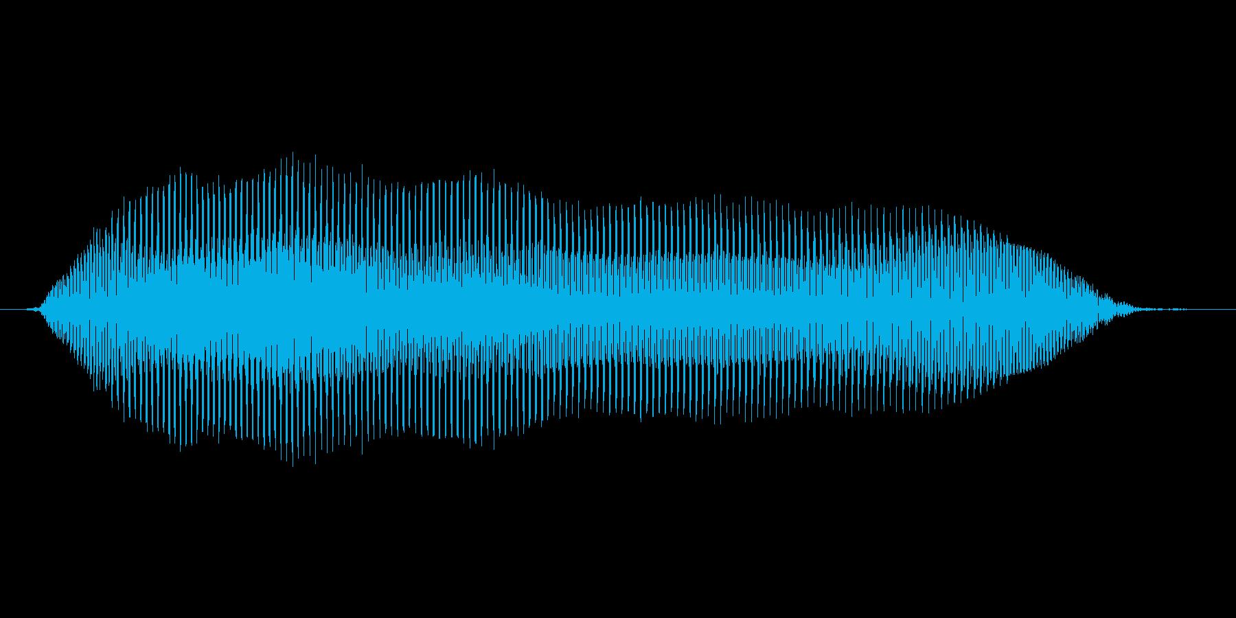 【ゾンビボイス】うなり声4の再生済みの波形