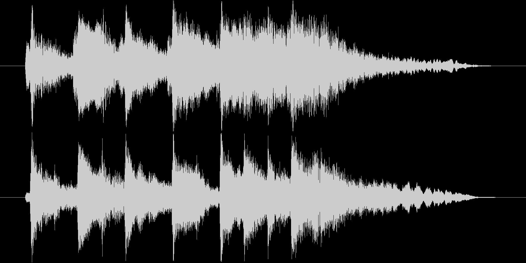 琴・尺八・和太鼓・笛の上品な和風ロゴの未再生の波形