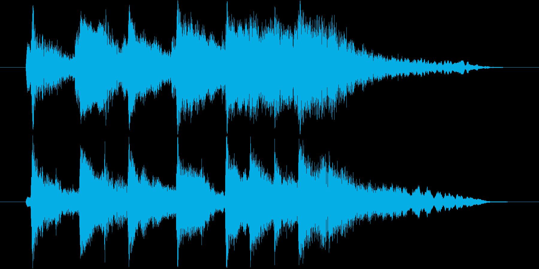琴・尺八・和太鼓・笛の上品な和風ロゴの再生済みの波形
