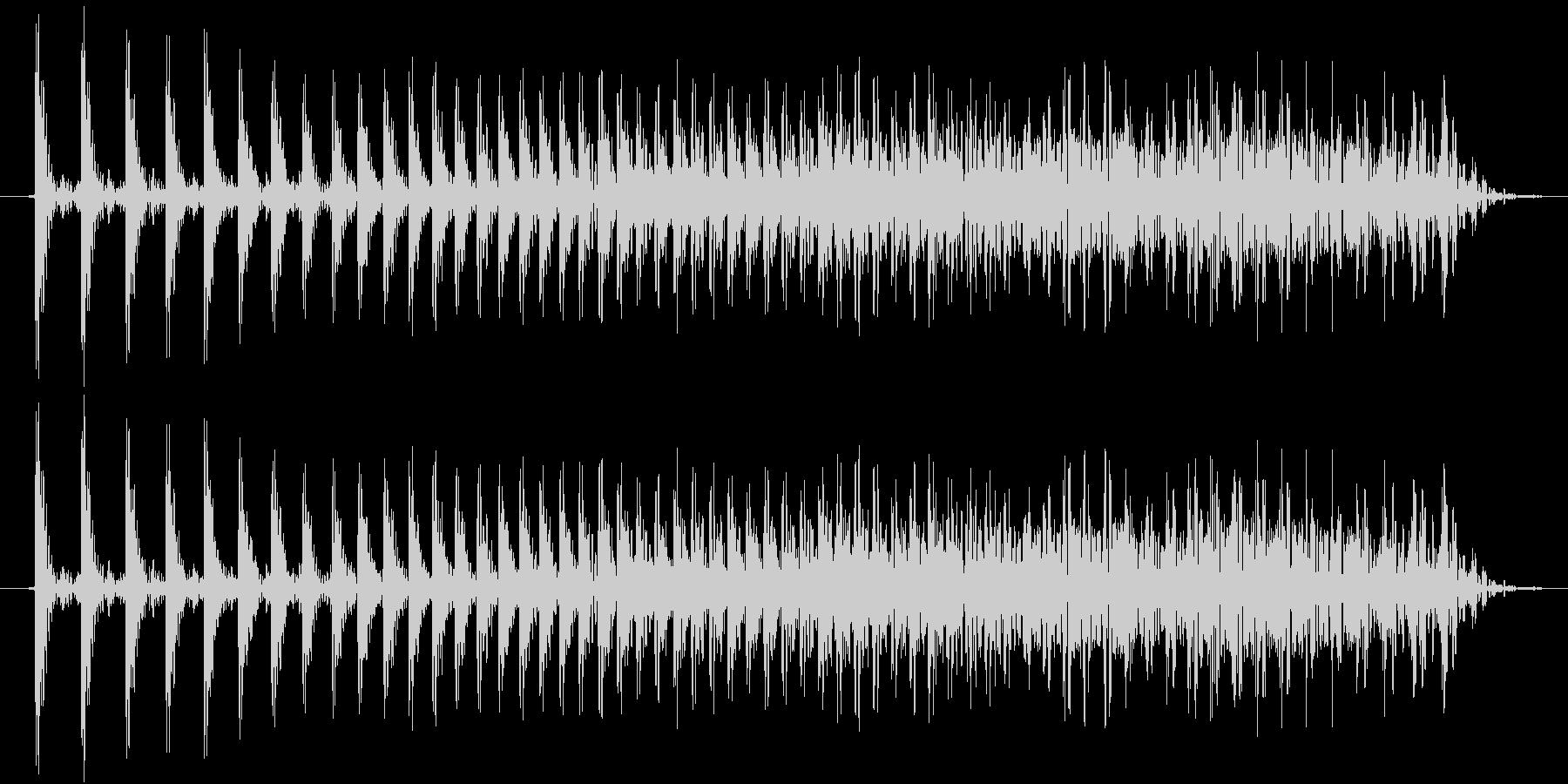 機械系の短い効果音です。の未再生の波形