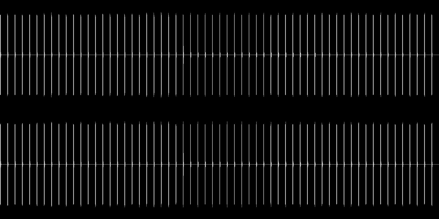 ピッピッピッピ(カウント音)の未再生の波形