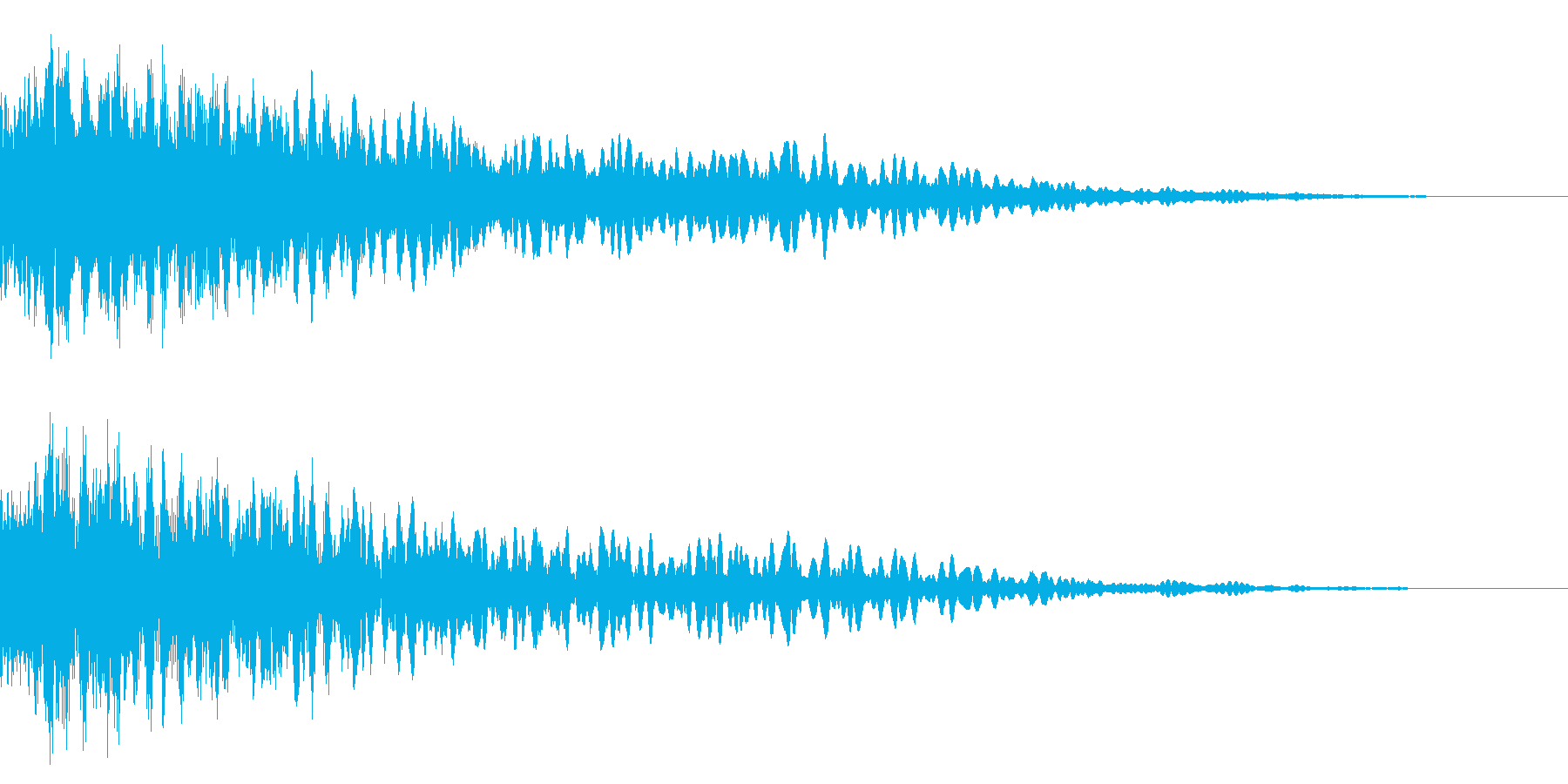 ホラー系アタック音82の再生済みの波形