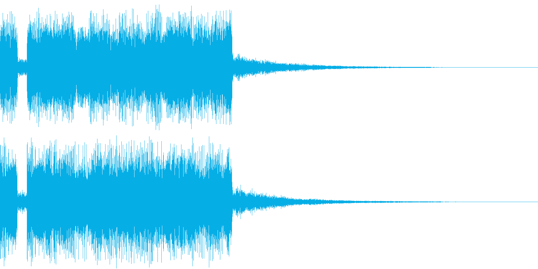 ジャジャーン2 明るいシンセ 登場 の再生済みの波形