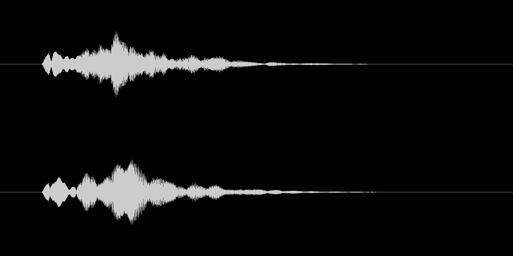 ファーンという幻想的なグラスハープの音の未再生の波形