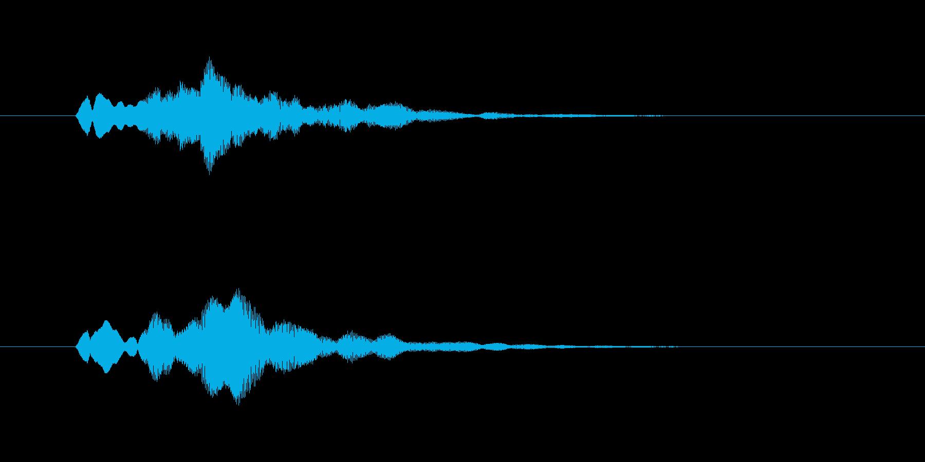ファーンという幻想的なグラスハープの音の再生済みの波形