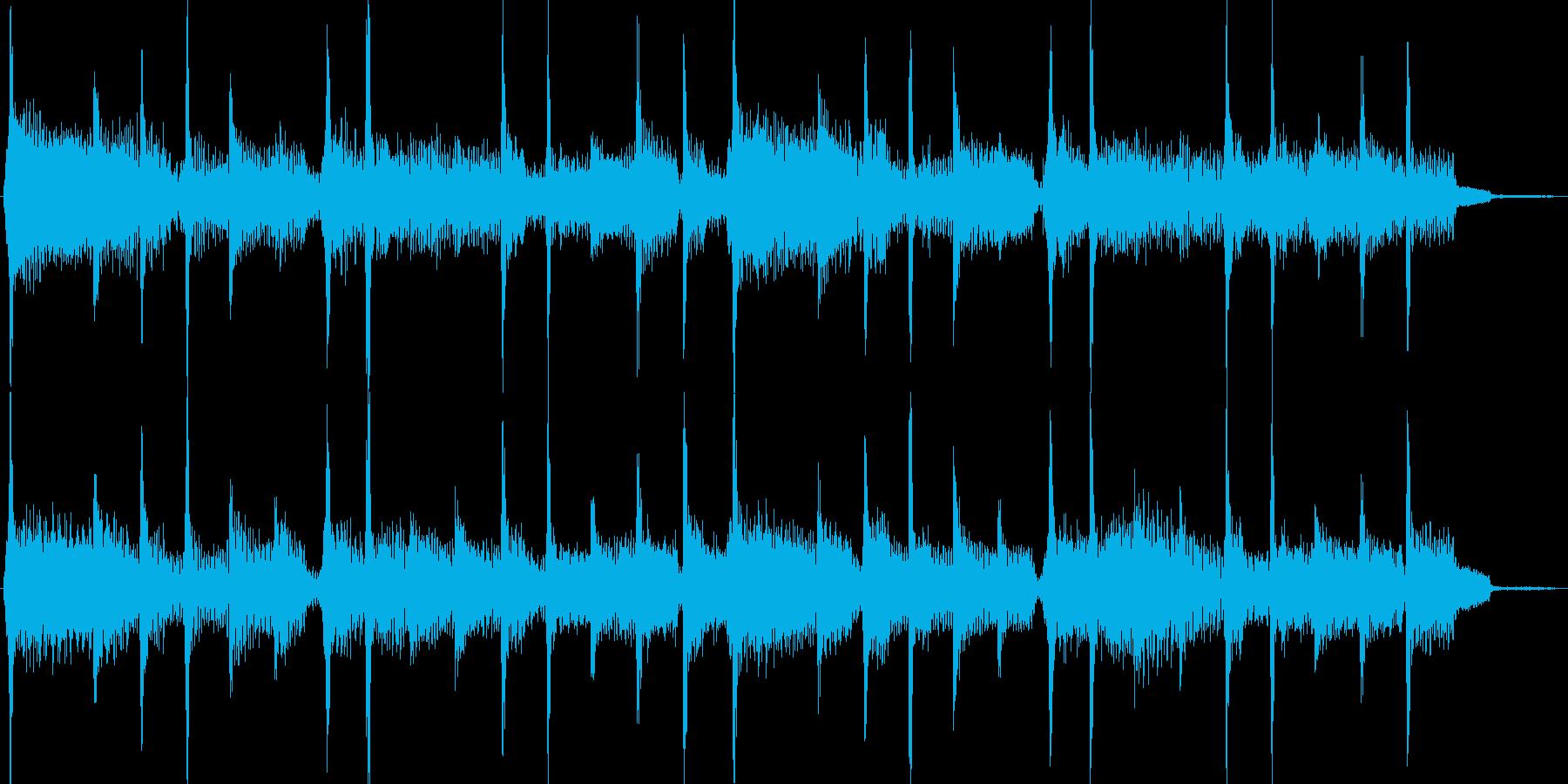 ボサノバ風エレピのジングルの再生済みの波形
