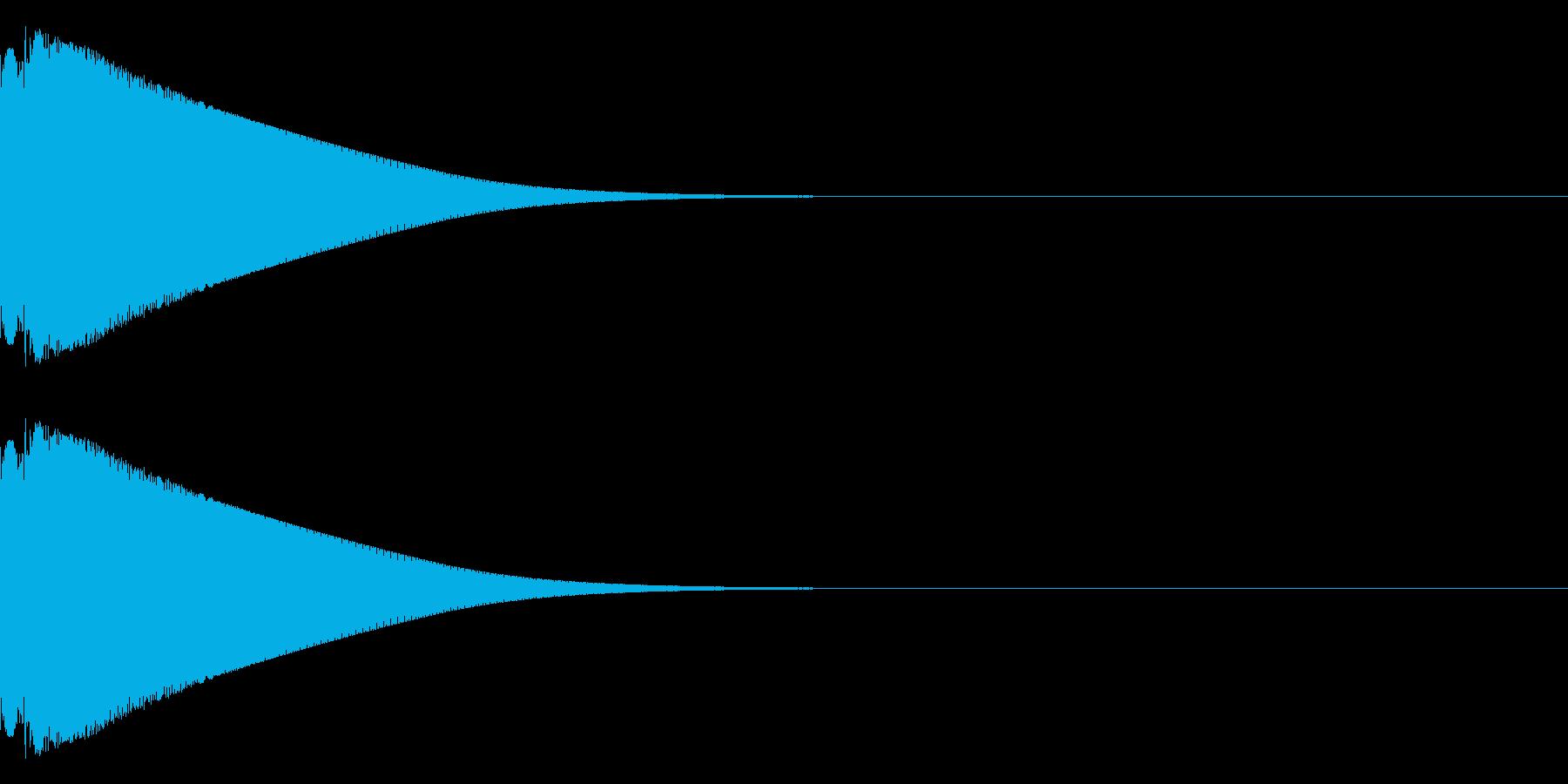 ピリーン(金属的)の再生済みの波形
