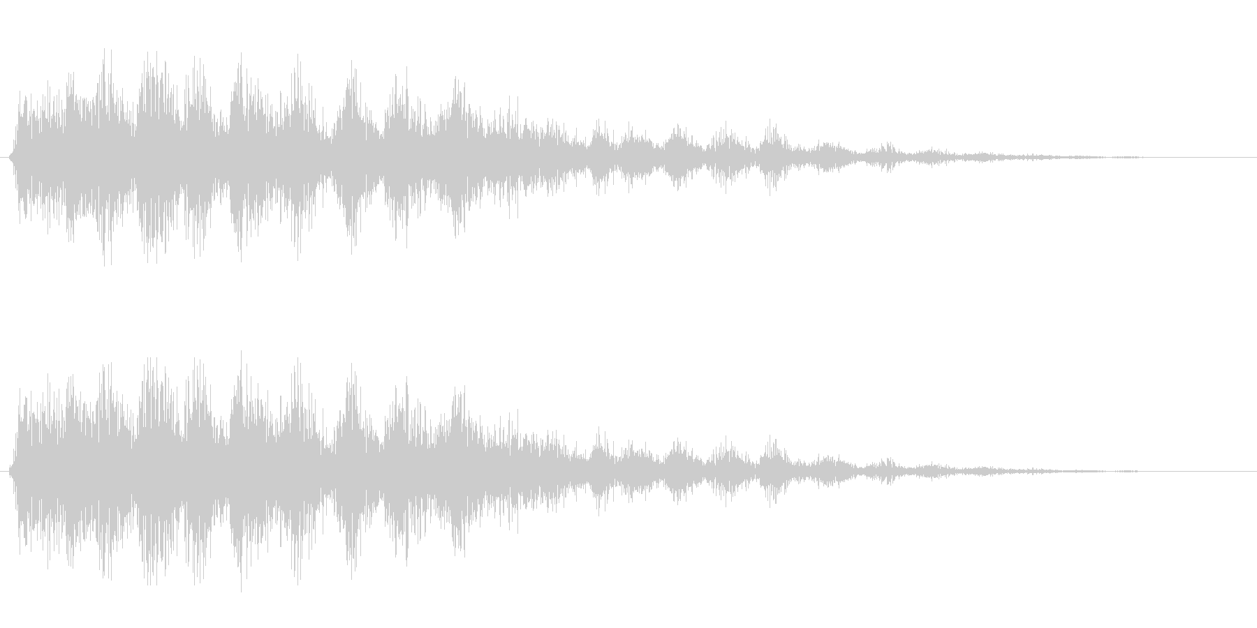 ギュルル(カセットの巻き戻し)の未再生の波形