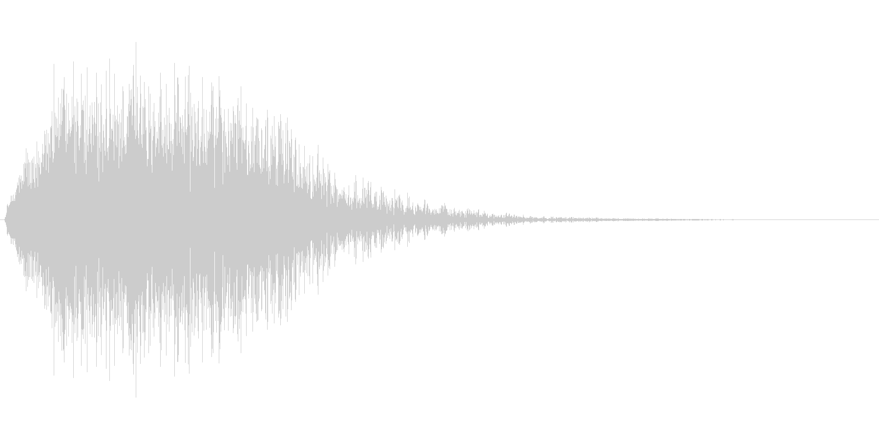 キャンセル音などの未再生の波形