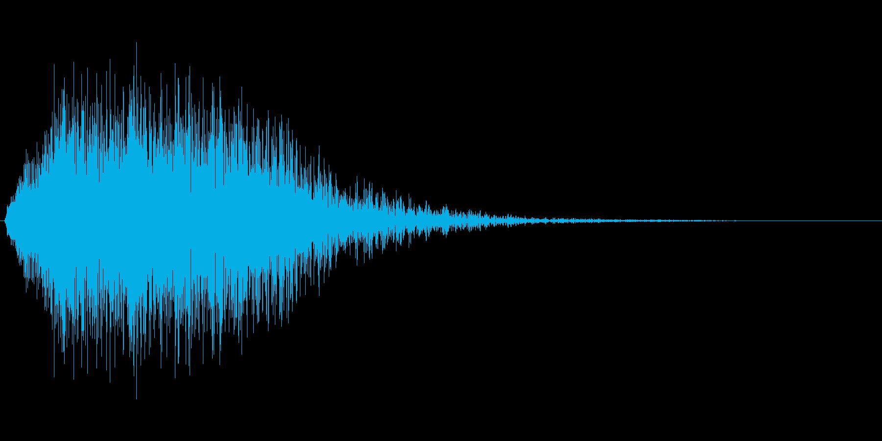 キャンセル音などの再生済みの波形