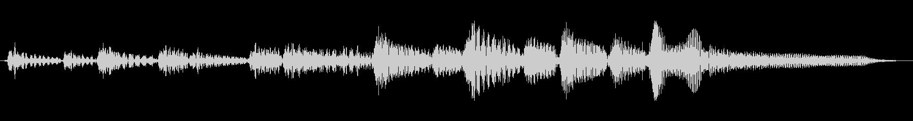 アコーステックギターのブルーステイストの未再生の波形