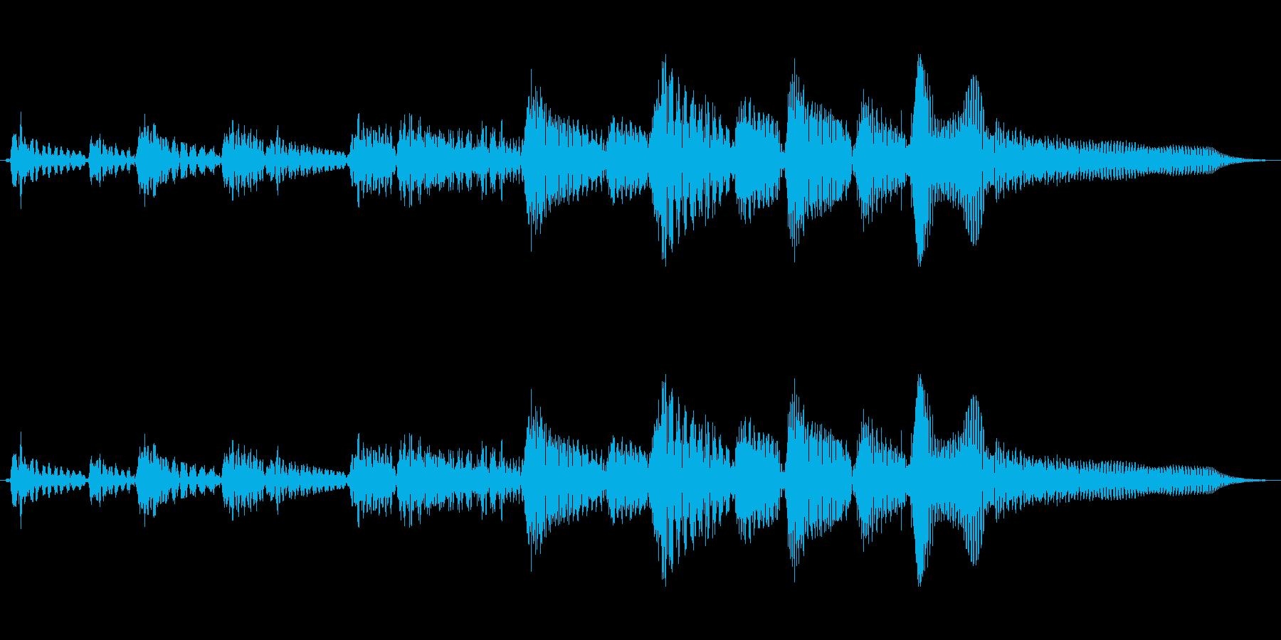 アコーステックギターのブルーステイストの再生済みの波形
