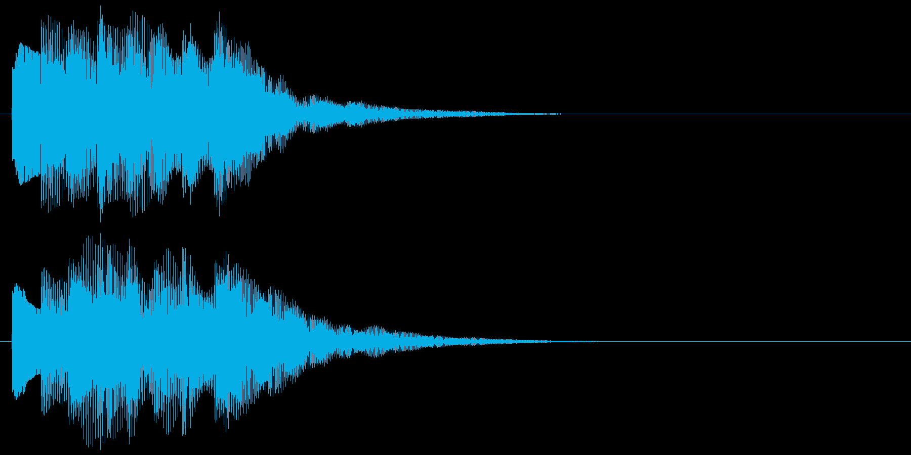 アラーム音09 キラキラ(maj)の再生済みの波形