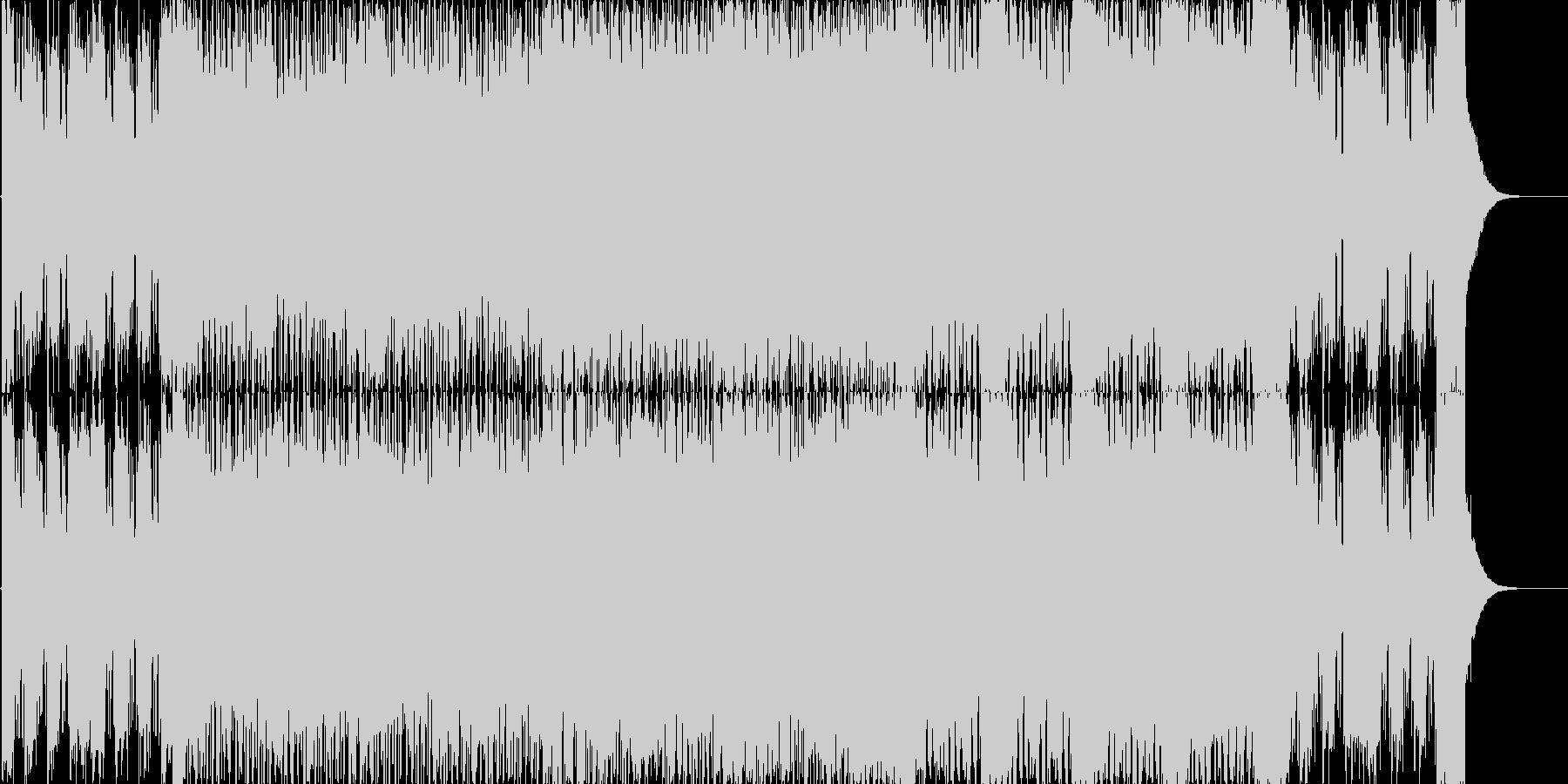 少しクセのあるハードロックの未再生の波形