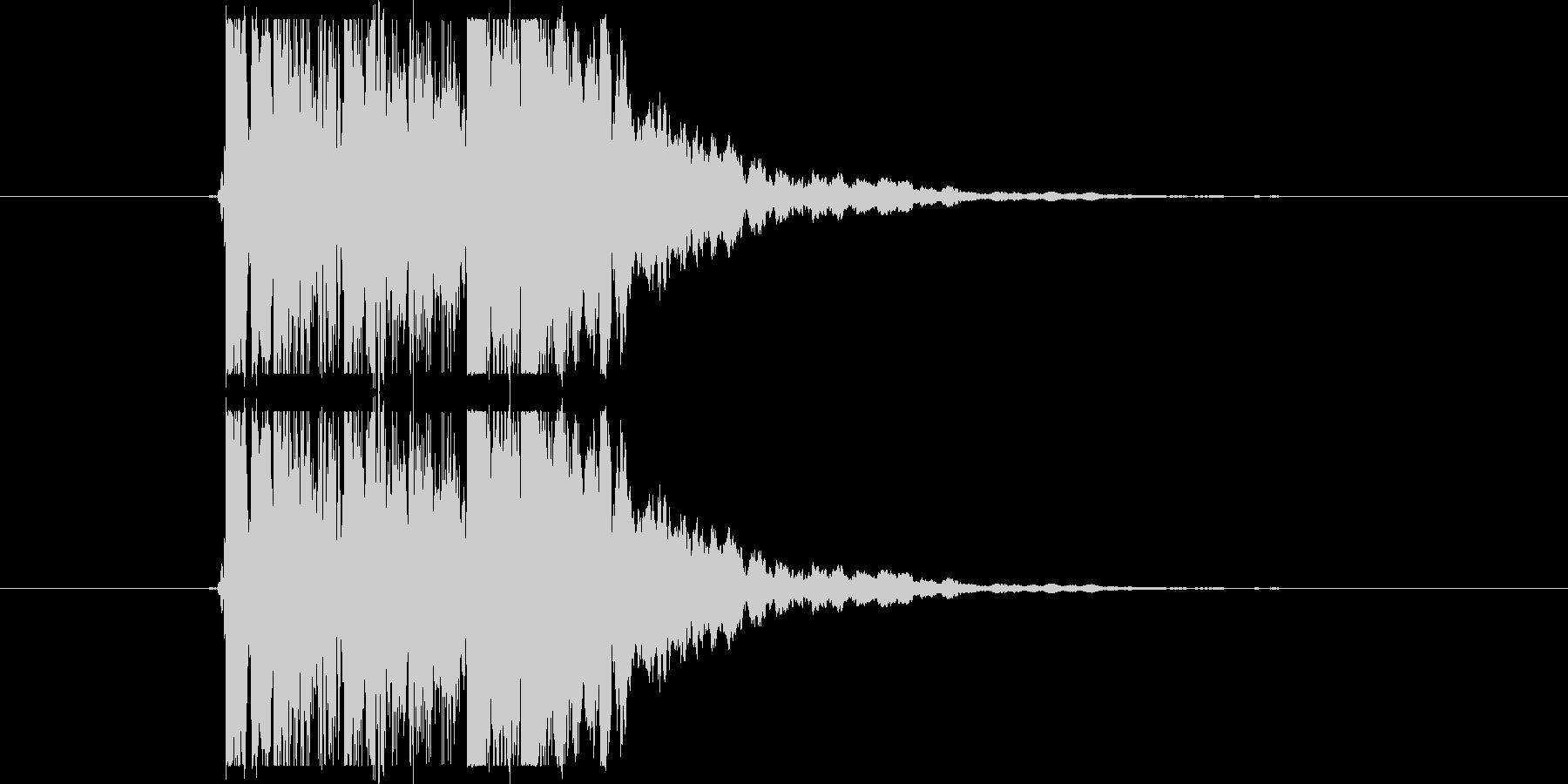 クリーントーンギターフレーズの未再生の波形