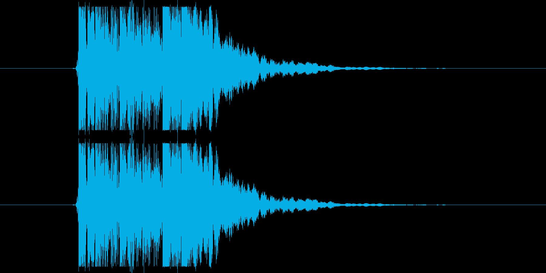 クリーントーンギターフレーズの再生済みの波形