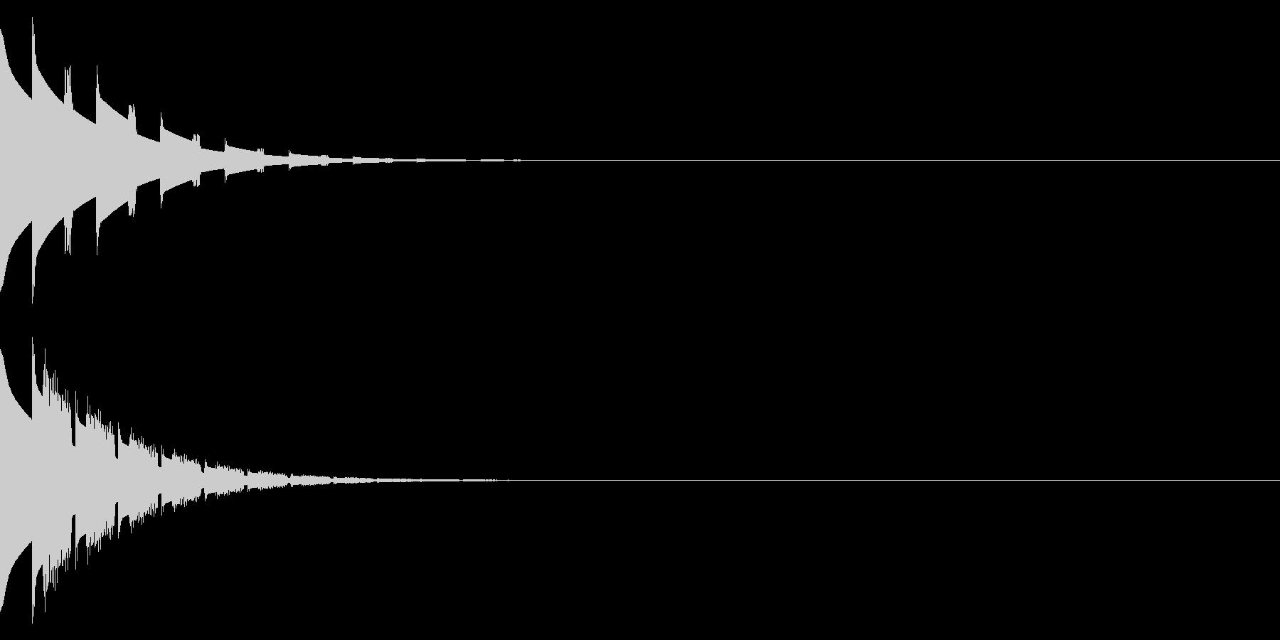 ピンポン(クイズの正解音)の未再生の波形