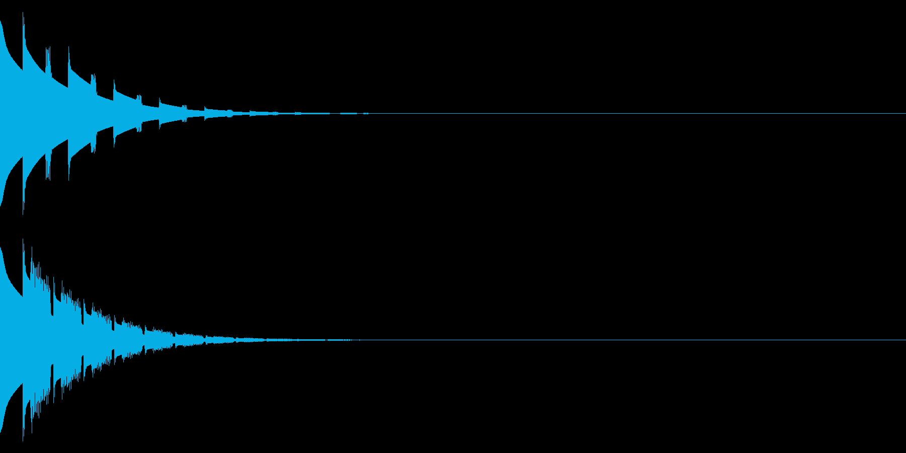 ピンポン(クイズの正解音)の再生済みの波形