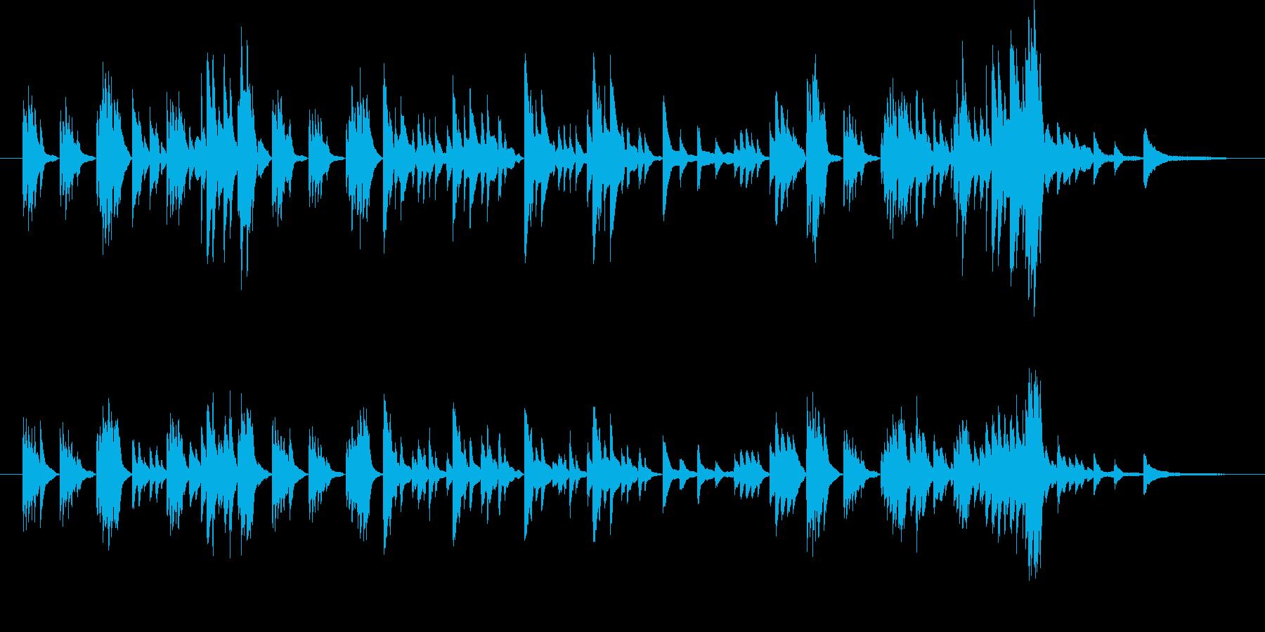 モーツァルトのようなクラシカルピアノの再生済みの波形