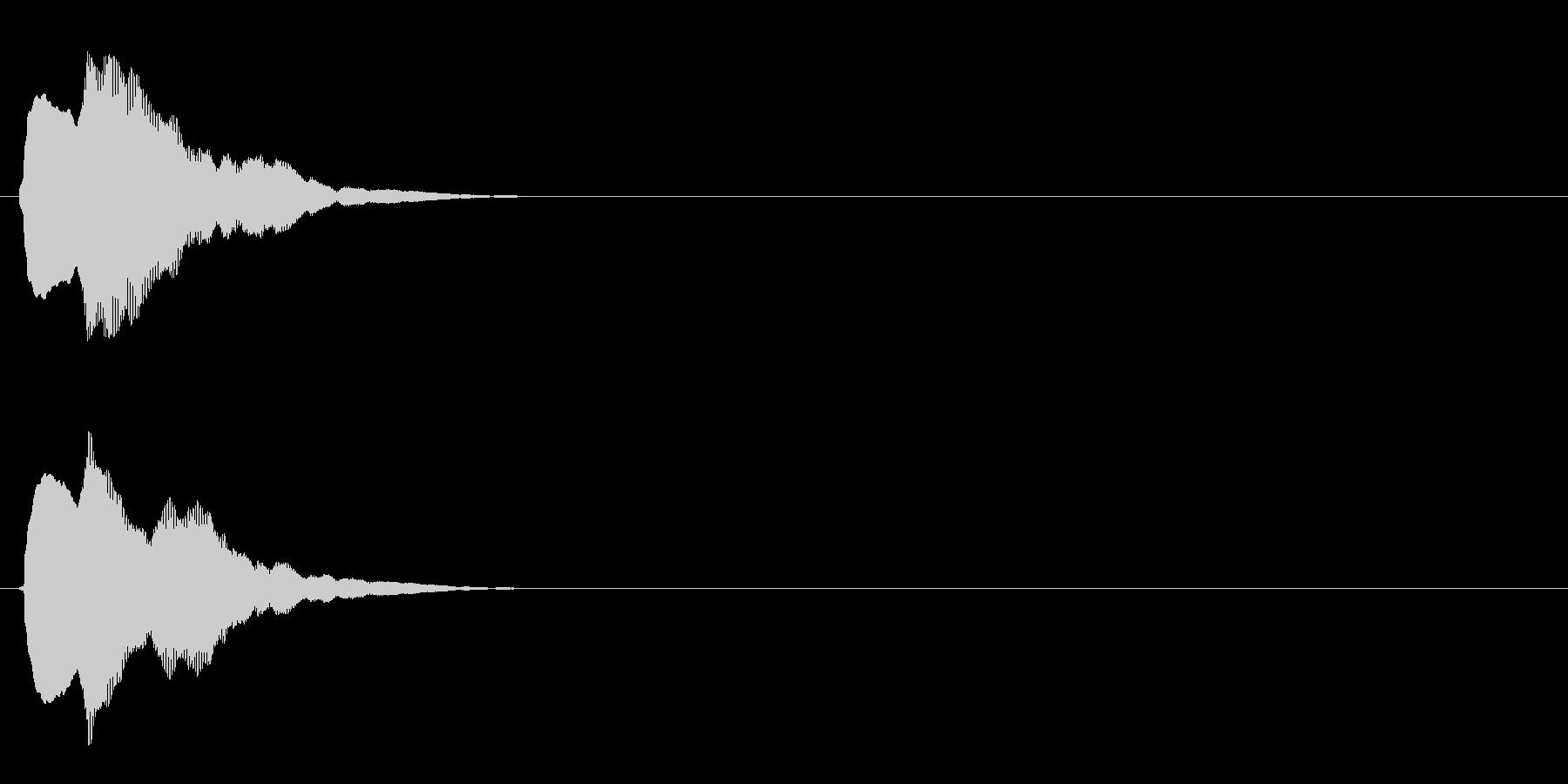 汎用 キラキラ系02(小) キャンセル音の未再生の波形