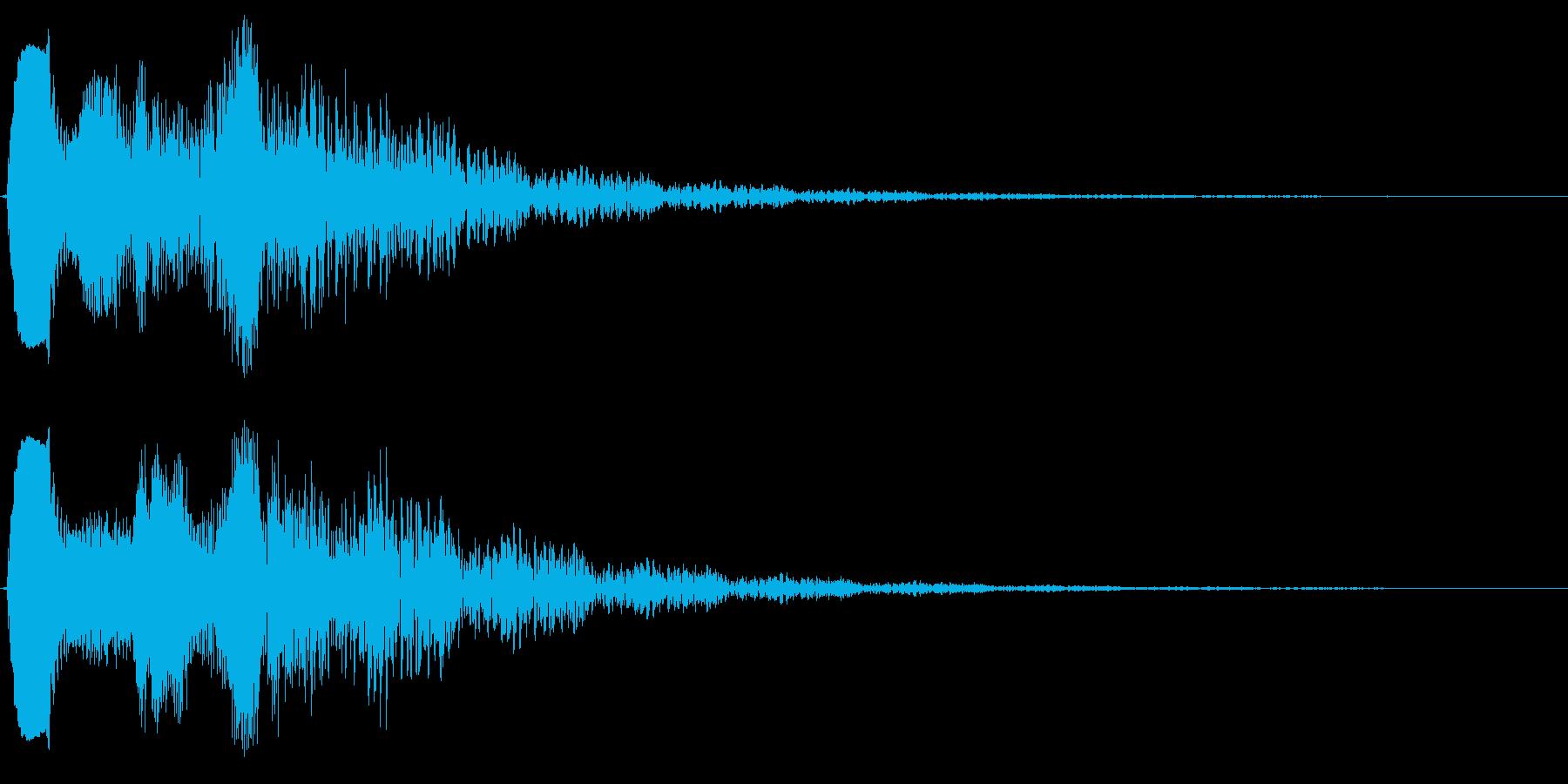 ピュゥゥゥ。落ちる・下がる・飛んでいく音の再生済みの波形