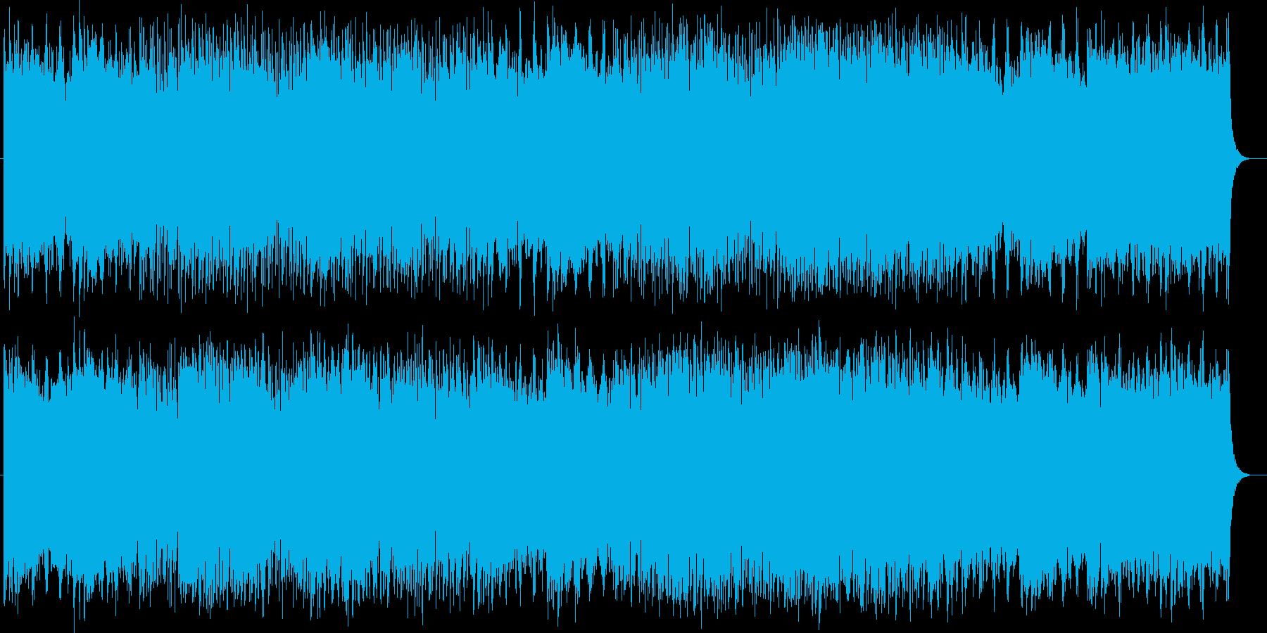 ロックとテクノの軽快なエレキサウンドの再生済みの波形