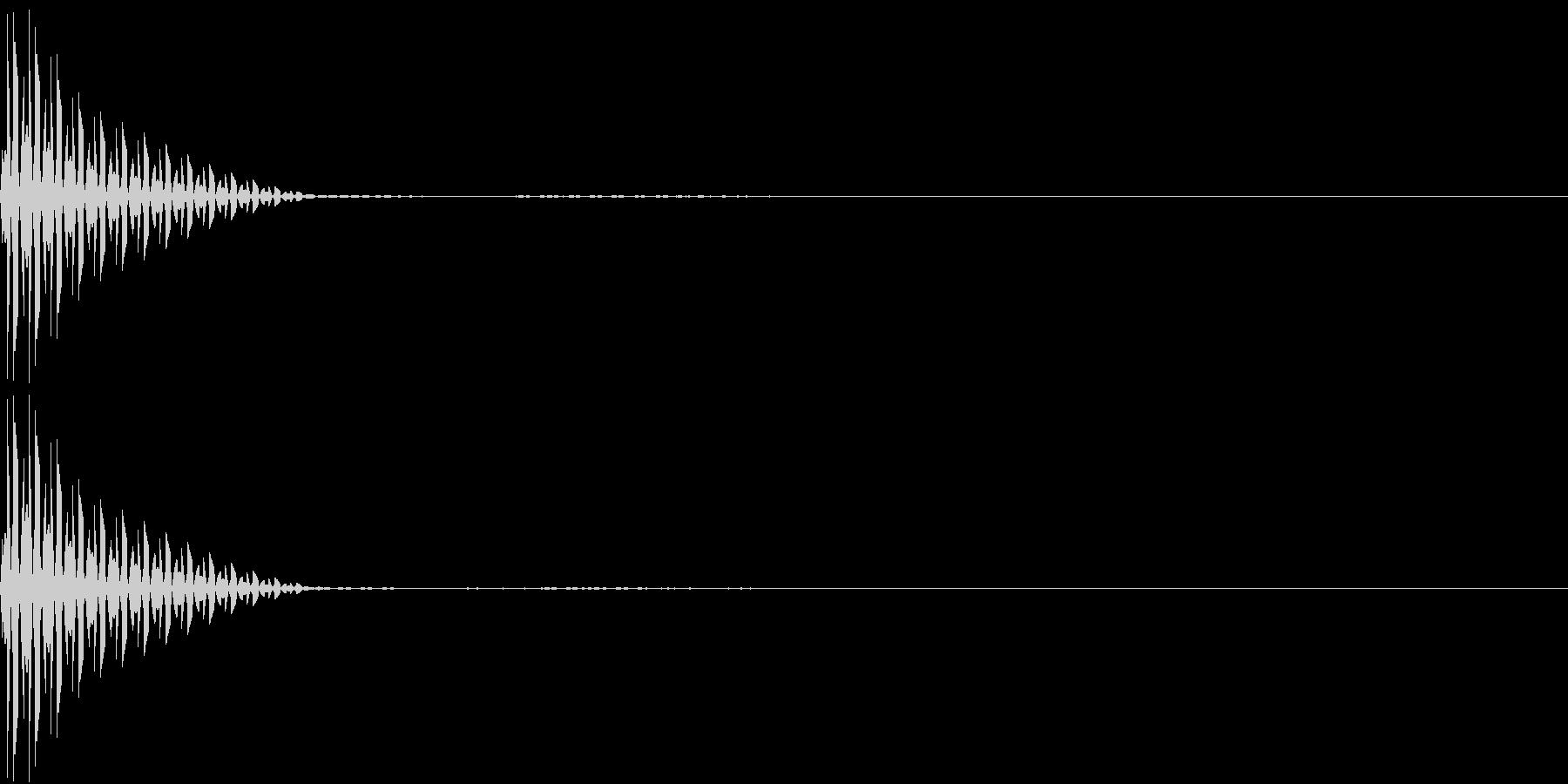 App キャンセル 選択 クリック音の未再生の波形