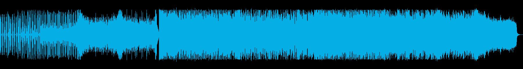 映像のオープニングに合う楽しいテクノの再生済みの波形