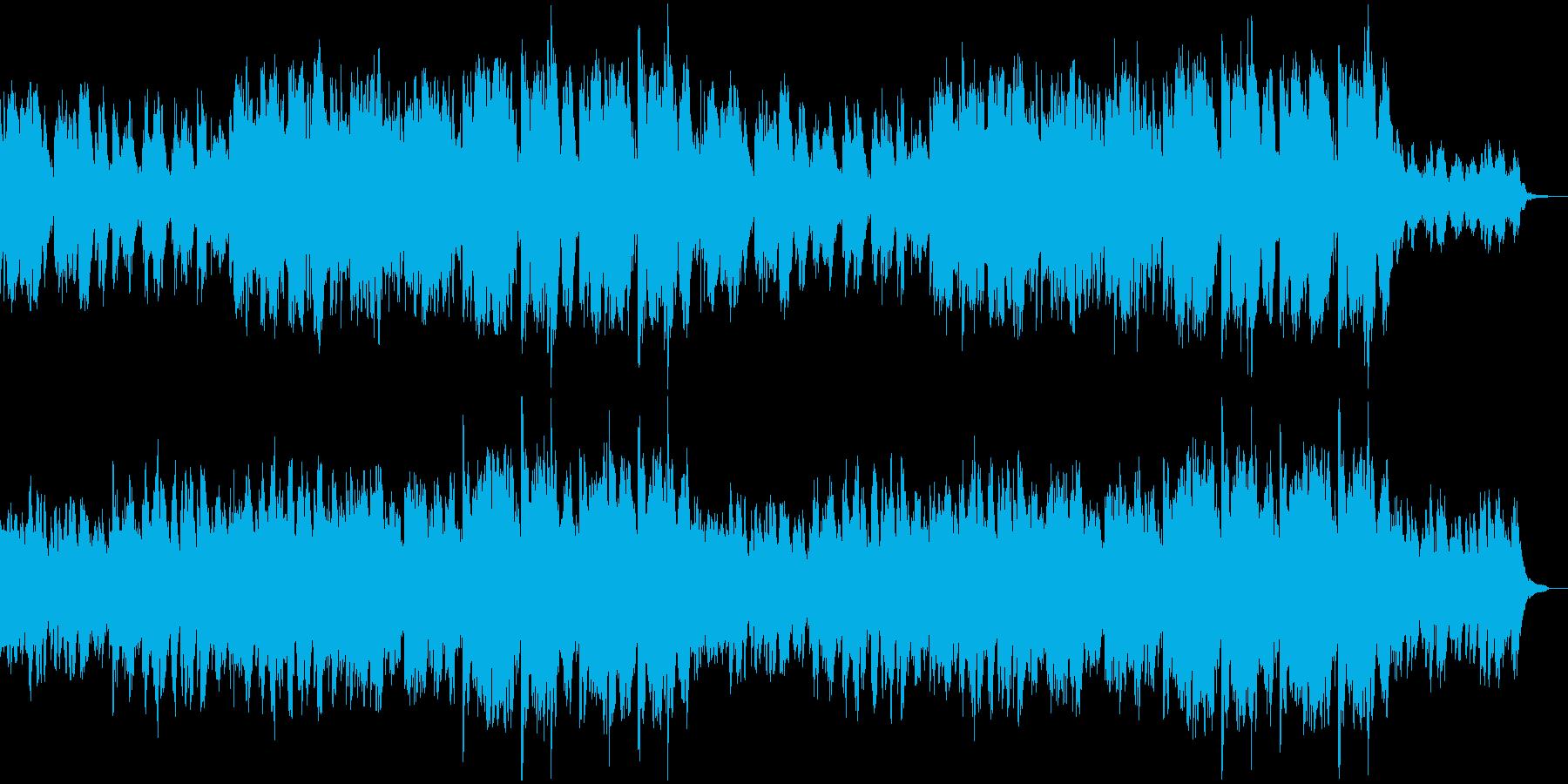 和楽器のバラード_尺八と琴とピアノの再生済みの波形