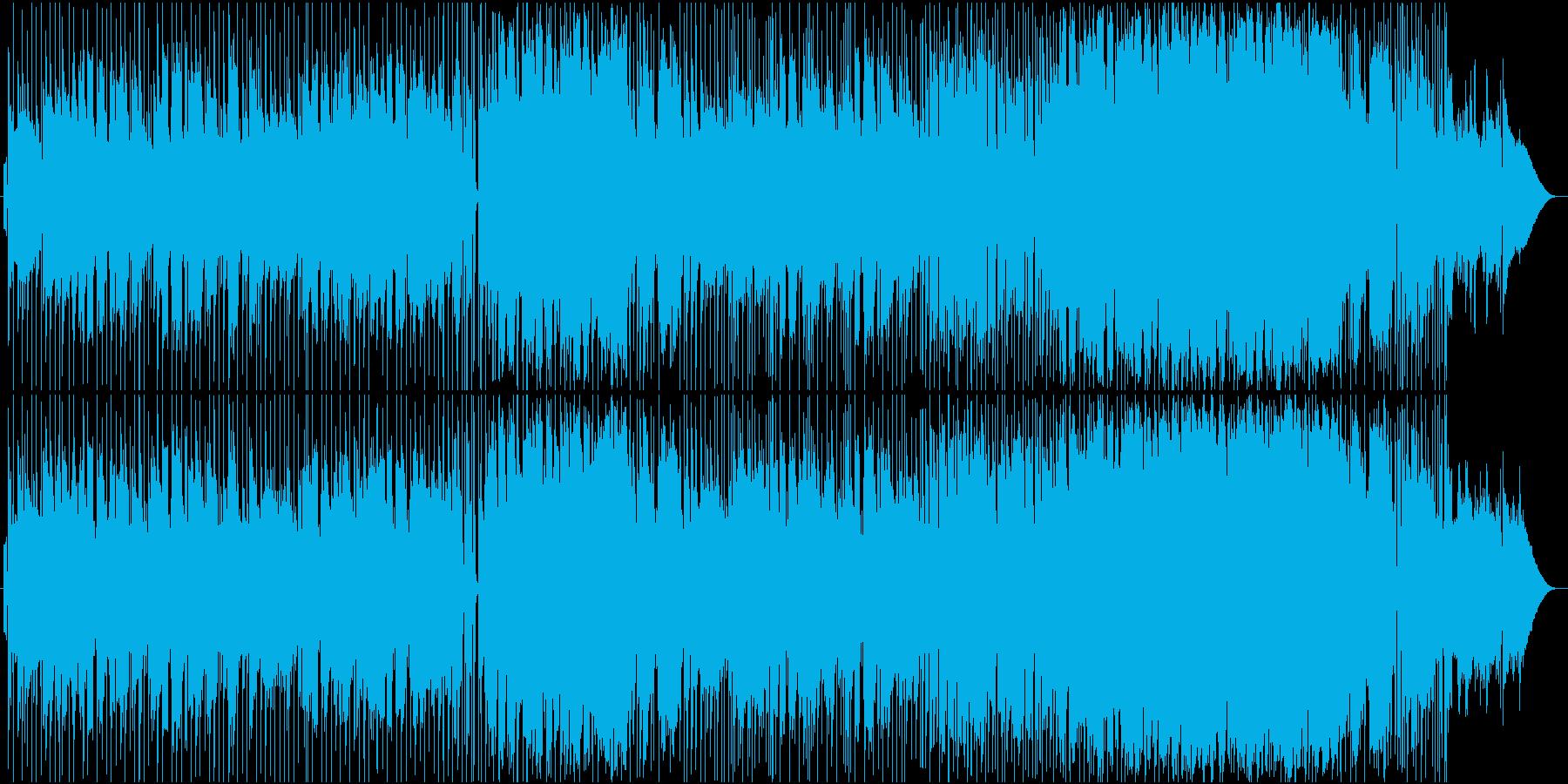 サックスを前面に出した柔らかいバラードの再生済みの波形
