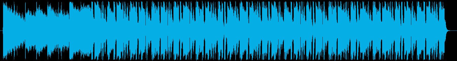 クラブ系ジャズピアノのBGMの再生済みの波形