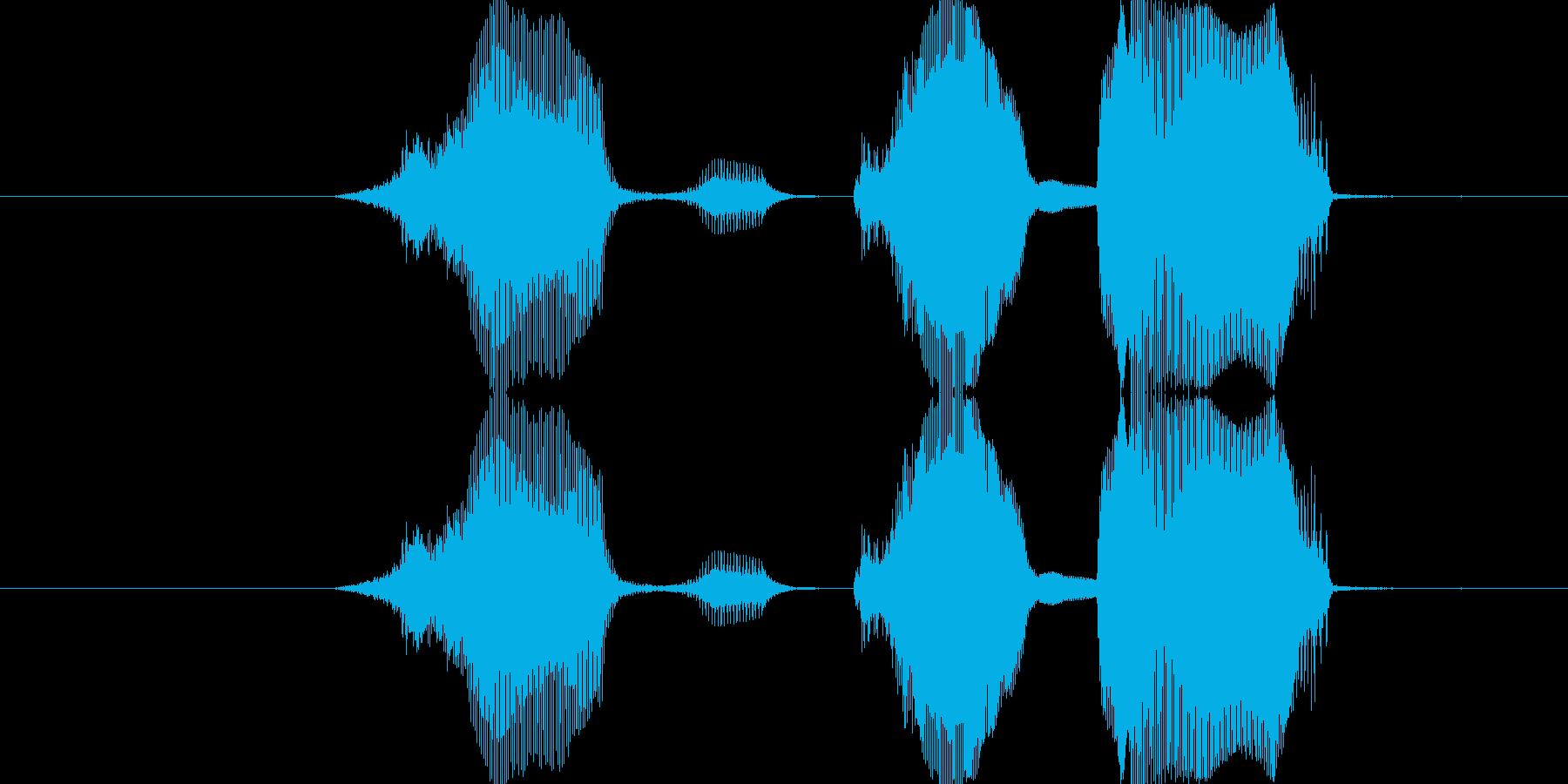 セーブ完了!の再生済みの波形