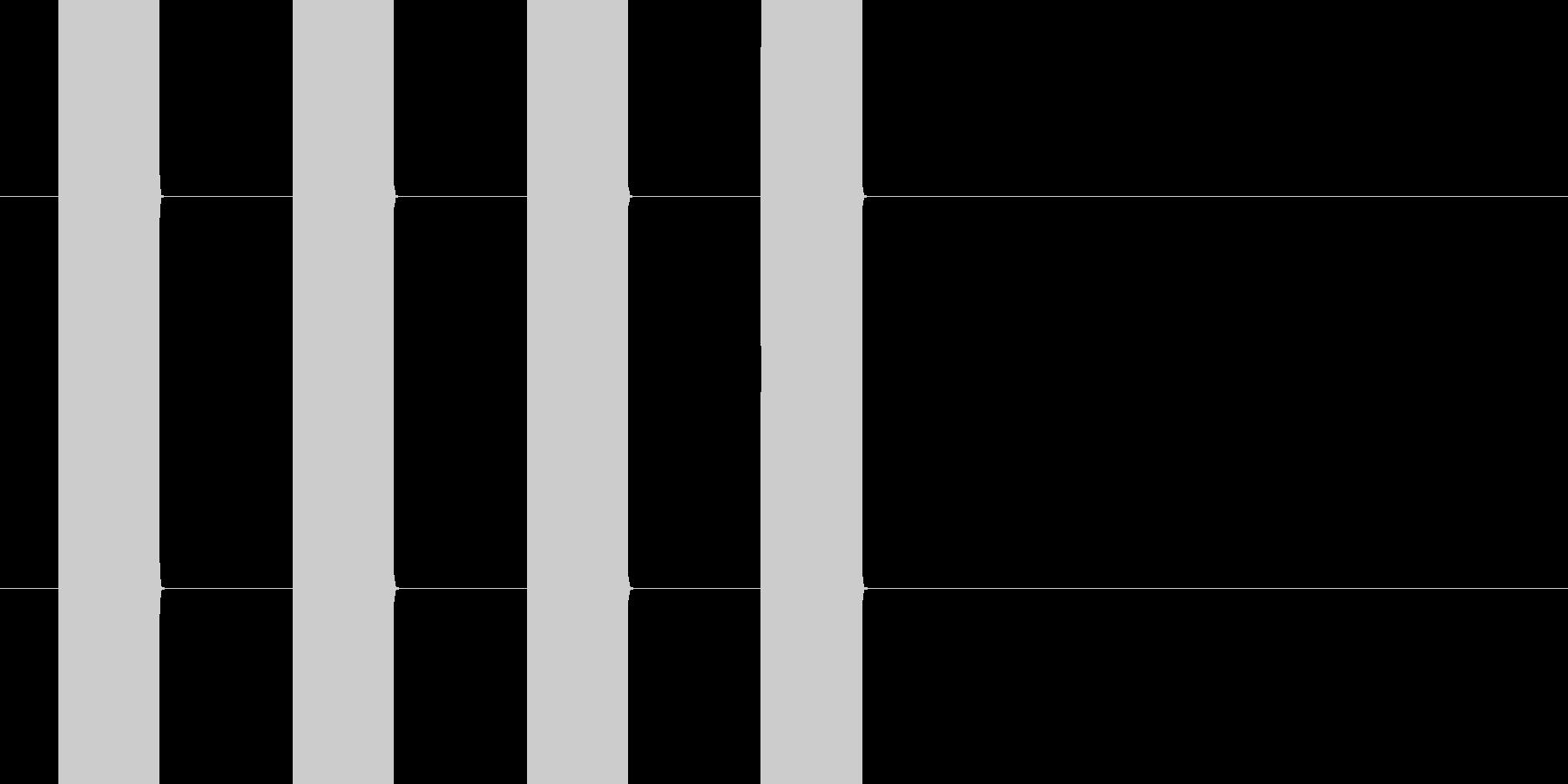 プープープープー(乗り物のアラーム音)の未再生の波形