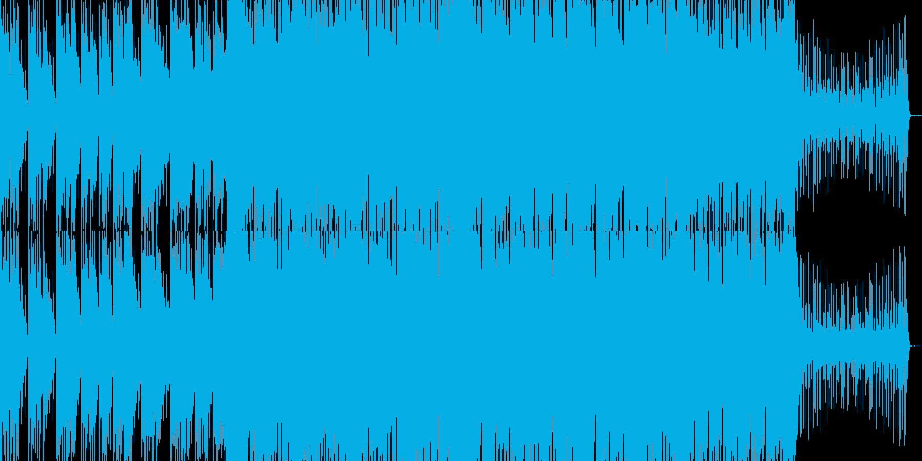 軽快で爽やかなエレクトロソングの再生済みの波形
