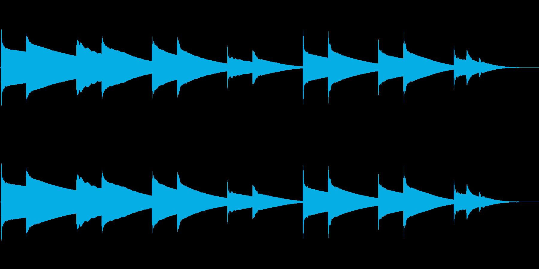 (15秒)哀愁漂うチェレスタオルゴール曲の再生済みの波形