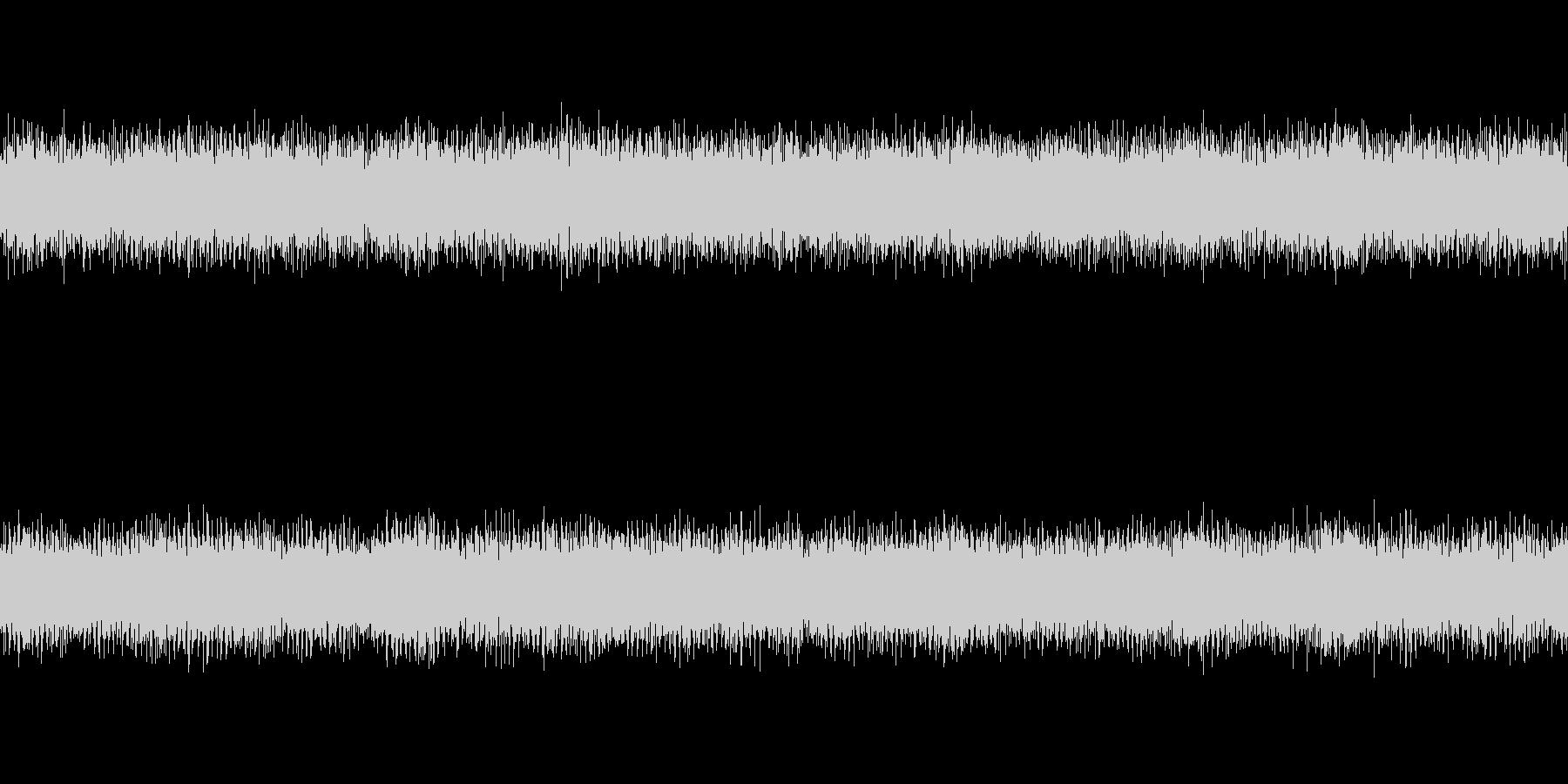 ノイズアンビエント系のホラー曲の未再生の波形