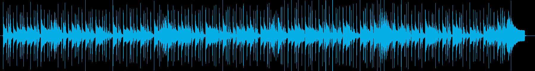 シンプルで切ないバラードビートの再生済みの波形