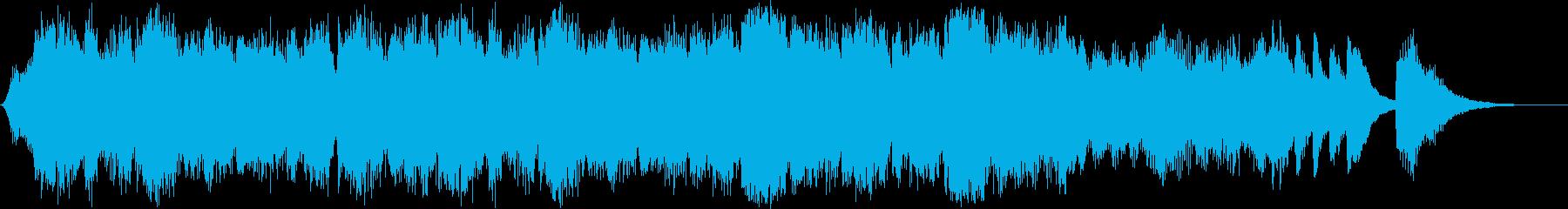 タイトル等に使えるオーケストラ風BGMの再生済みの波形