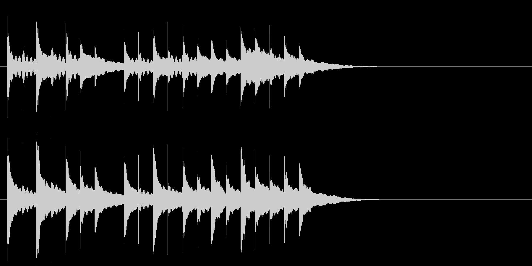 オルゴールのジングルの未再生の波形