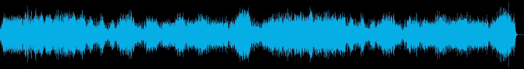 闇の恐怖感を演出 ピアノ ストリングスの再生済みの波形