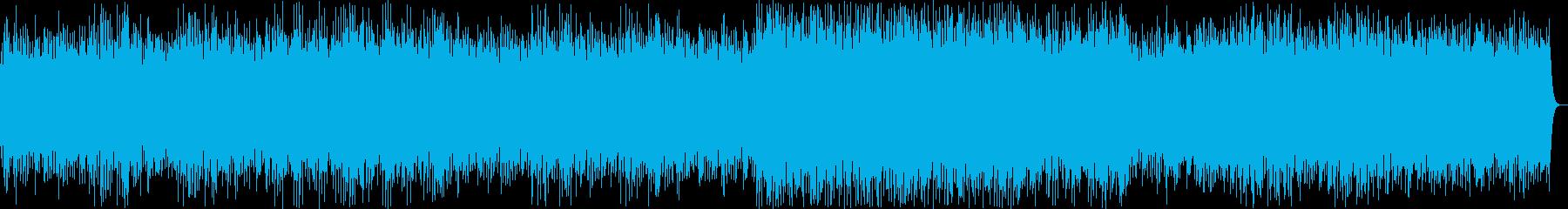 和風なリラクゼーションミュージックの再生済みの波形