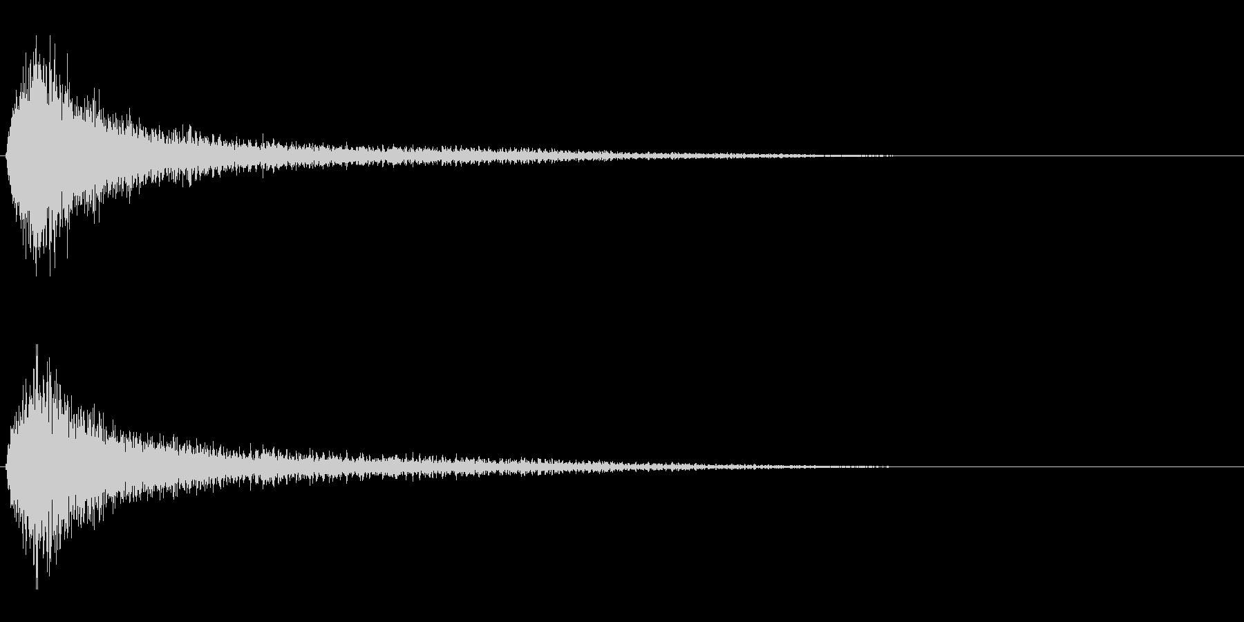失敗/ガーン/金属音/残念の未再生の波形