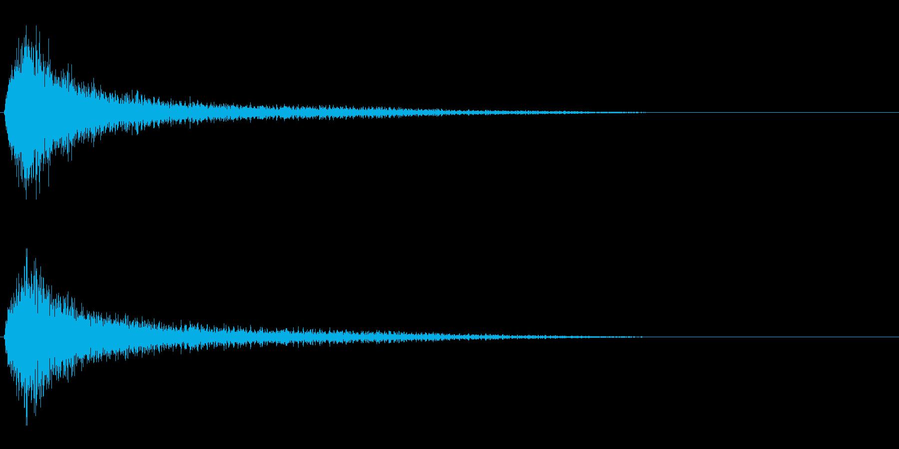 失敗/ガーン/金属音/残念の再生済みの波形