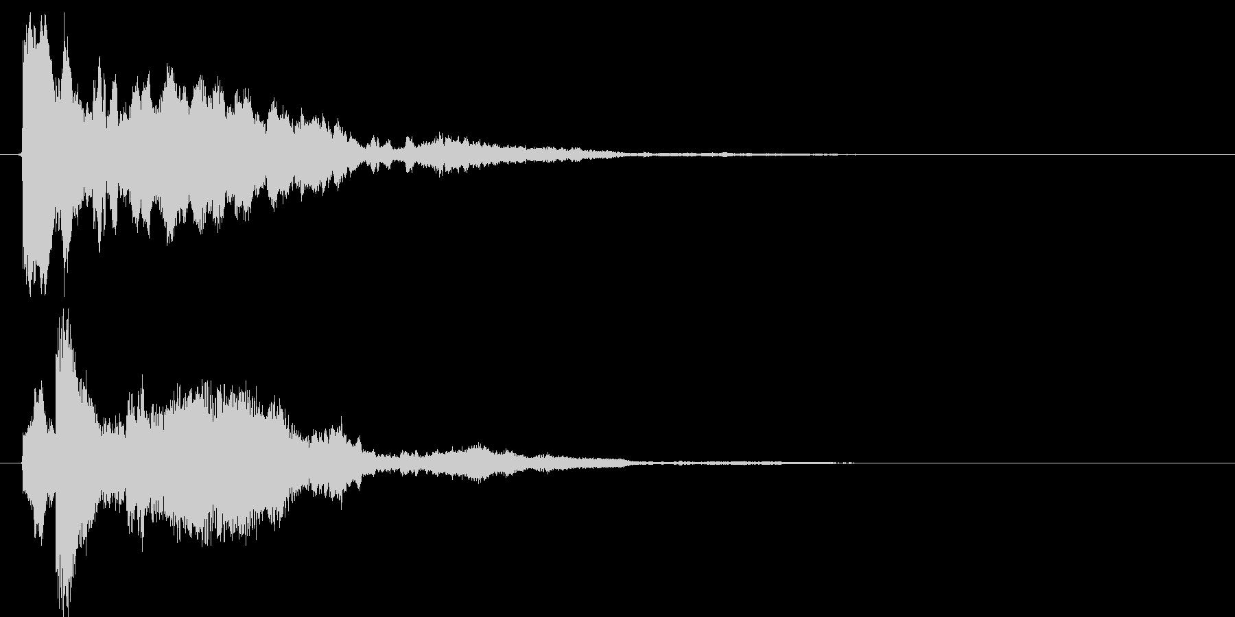 【SE】決定音02(ピローン↓)の未再生の波形