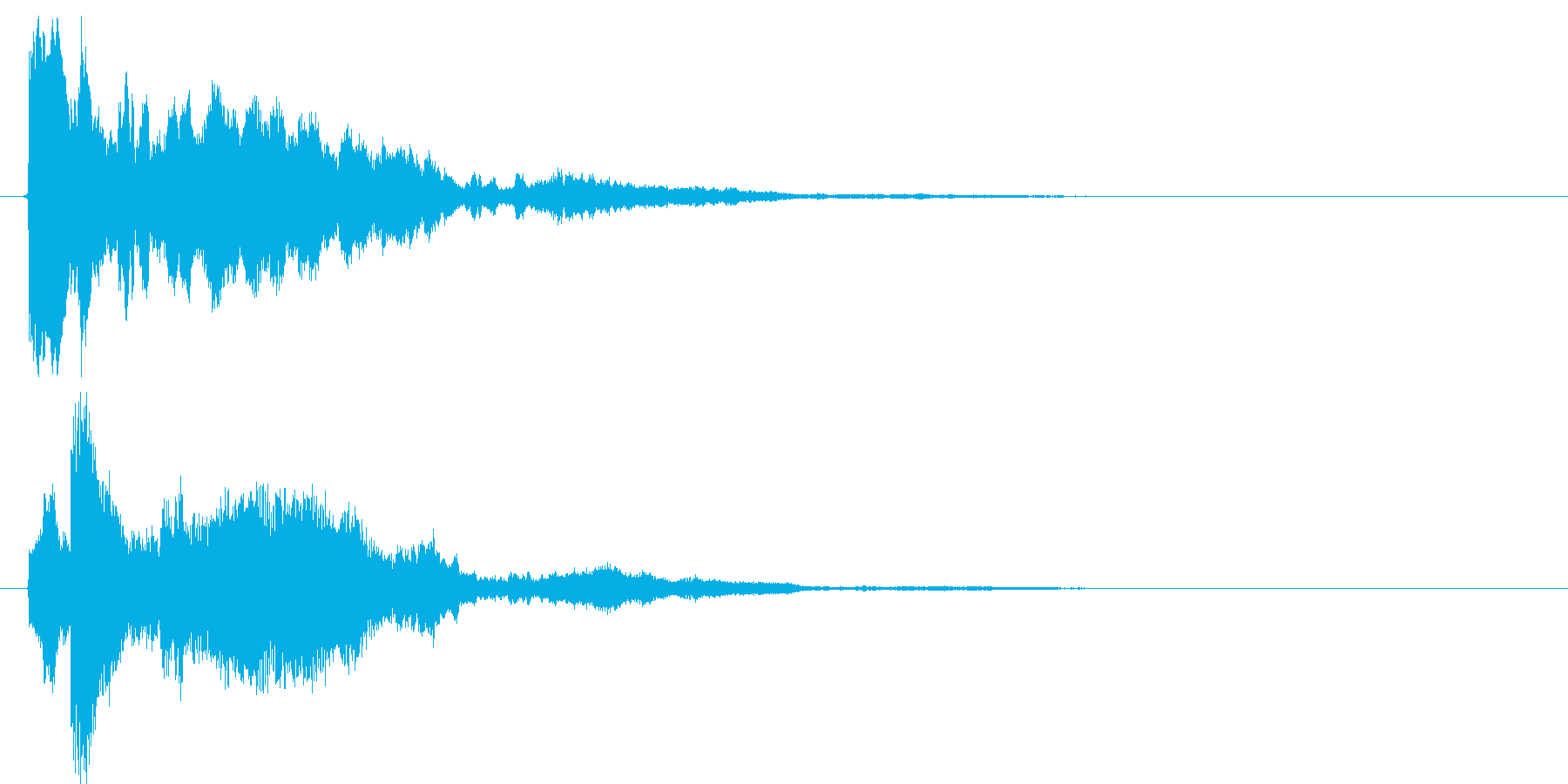 【SE】決定音02(ピローン↓)の再生済みの波形