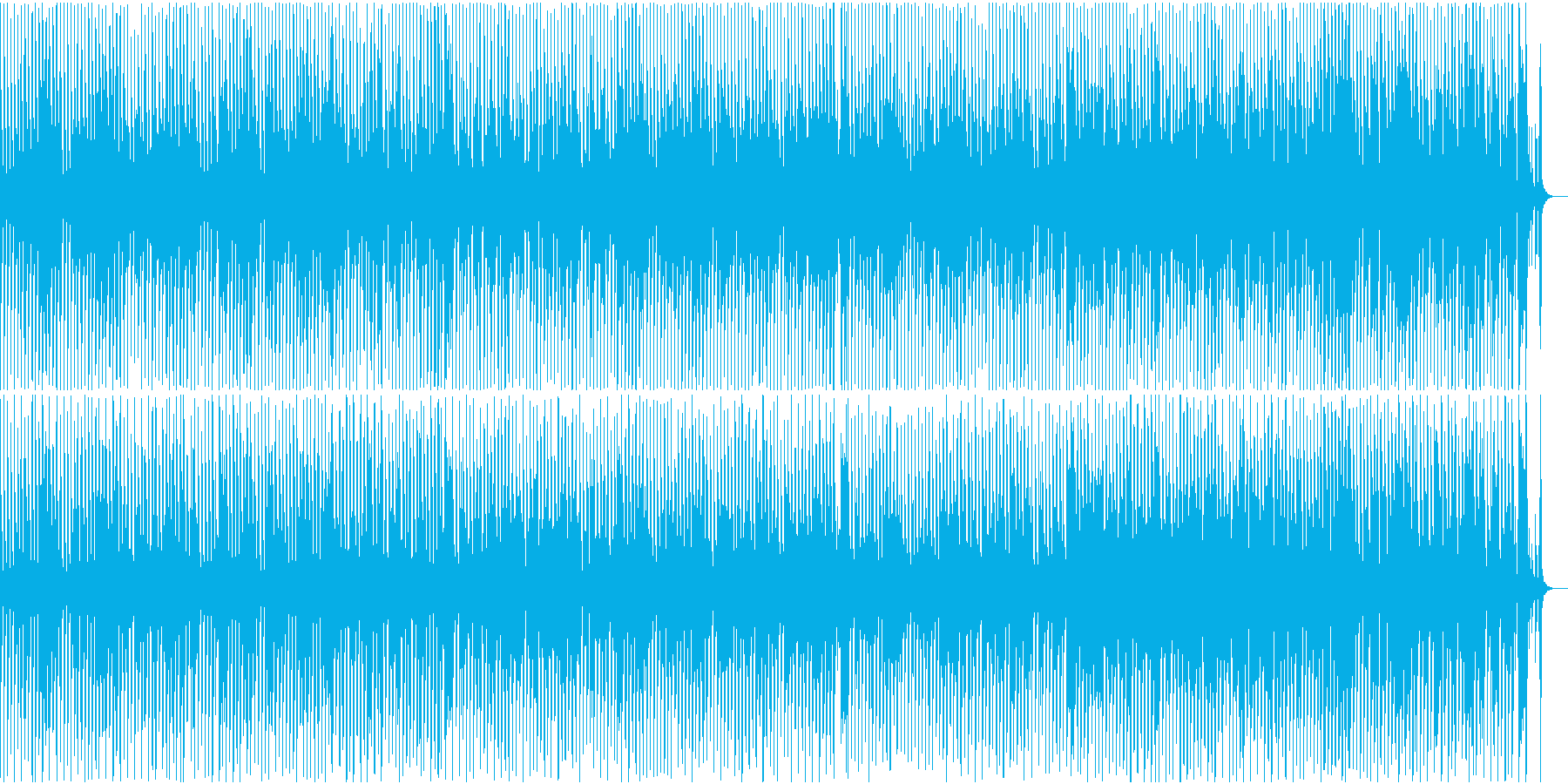 軽快なトランペットが特徴の映像用BGMの再生済みの波形