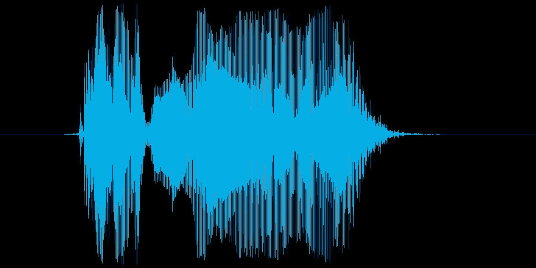 「おりゃー!」の再生済みの波形