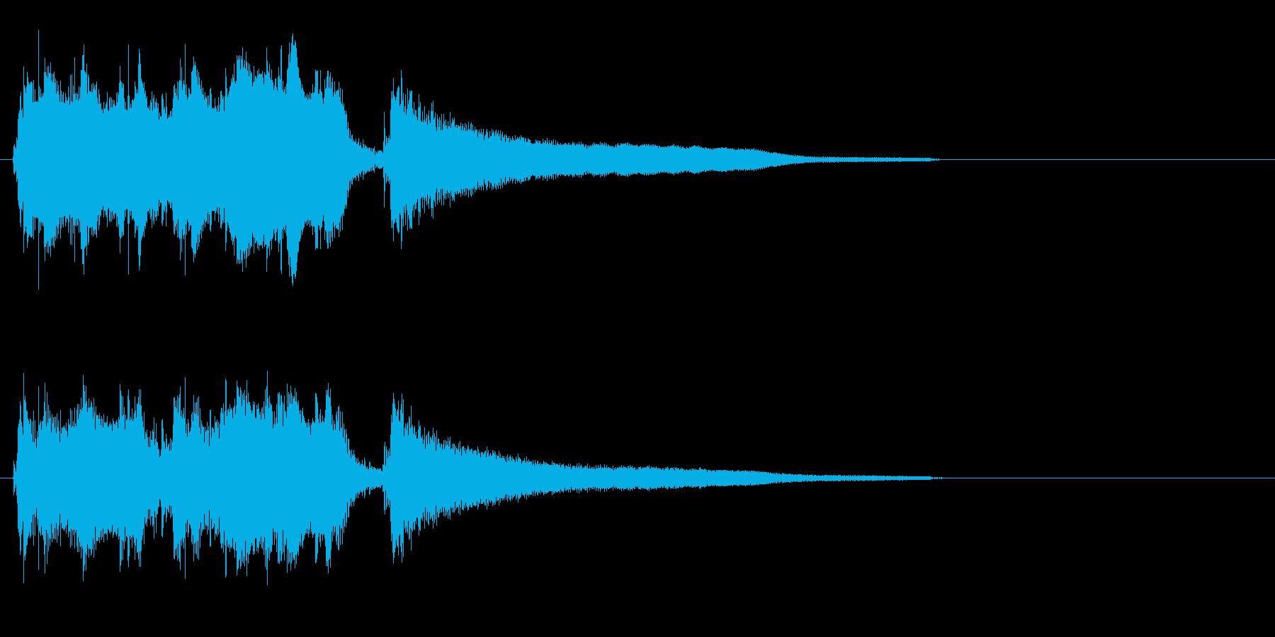 エーゲ海を臨むような異国風のジングルの再生済みの波形