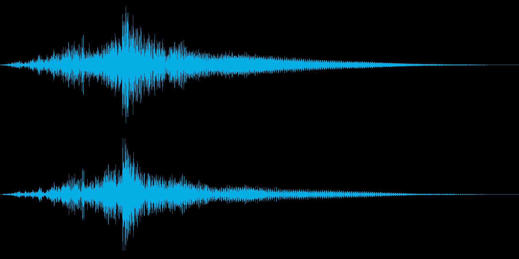 ホラー系アタック音130の再生済みの波形