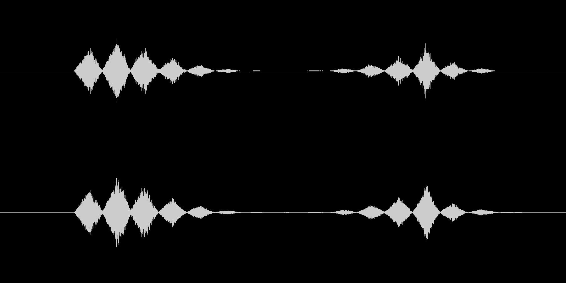 投擲音・投げる音の未再生の波形